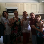 Photo of six women who form the book group Cherie belongs to.